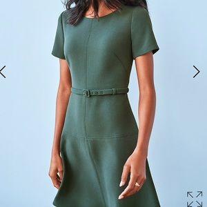 NWOT Ann Taylor DoubleWeave Belted Flare Dress